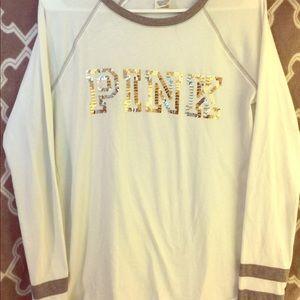 Victoria's Secret PINK sequin long sleeve